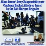 Abbas' Brigades Claim Responsibility for Rocket Fire on Israel