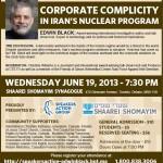 """""""Inside Iran's Atomic Warhead"""" With Edwin Black in Toronto"""