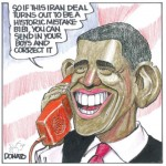 Toronto Sun Cartoon: Obama Gambling with Security of U.S. and its Allies