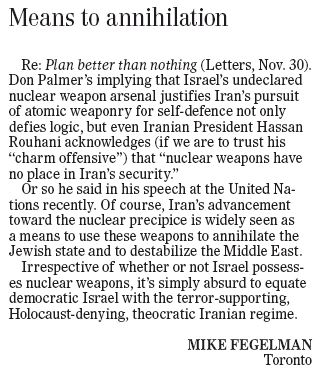 HRC Letter Published in the Winnipeg Free Press