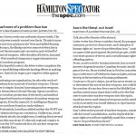 """HRC Letter in Hamilton Spectator Asserts: """"Iran is the Threat, not Israel"""""""