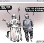 Calgary Herald Cartoon: Why the Security Fence? Good Question. Why the Bulletproof Popemobile?