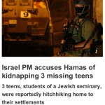 "HRC Prompts CBC Correction: Kidnapped Israeli Teens Were Not Heading ""Home to Their Settlements"""