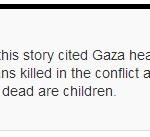 CBC Retracts Scandalous Claim that Majority of Gazans Killed are Children