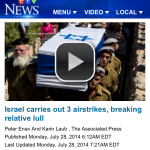 After HRC Complant, CTV Amends Headline Which Accused Israel of Breaking Truce
