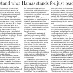 "HRC Op-Ed Published in Guelph Mercury: ""To Really Understand What Hamas Stands For, Just Read its Charter"""