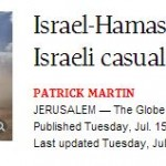 Globe and Mail Amends Erroneous Ceasefire Headline