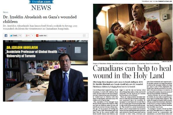 Toronto Star Retracts Palestinian Doctor's Claim that Most Dead Gazans Were Women & Children
