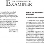 "HRC in Peterborough Examiner Today: ""Making Link was 'Morally Repugnant"""