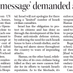 """HRC Commentary in the Telegram: """"'Lopsided message' demanded a response"""""""