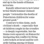 "HRC in Waterloo Record: ""Put Blame on Hamas"""