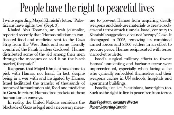 """HRC in the Telegram: """"People Have the Right to Live Peaceful Lives"""""""