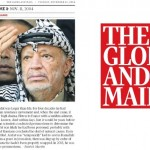Globe and Mail Lionizes Yasser Arafat on Remembrance Day