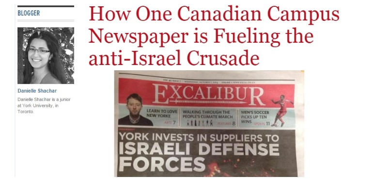 How One Canadian Campus Newspaper is Fueling the Anti-Israel Crusade