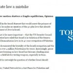 "Toronto Star Publishes Libel Claiming Israel Uses ""Palestine as a Field Lab for Testing Weapons"""