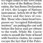 HRC Defends Israel in the Calgary Sun