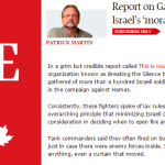 "Globe & Mail Presents Dubious Anti-Israel Organization's Report as ""Credible"""
