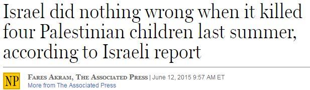"National Post Amends Headline: Gaza Beach Incident a ""Tragic Accident"" Israel Says"