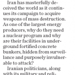 "HRC Argues in Calgary Herald: ""Don't Trust Iran"""