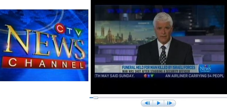 CTV Issues On-Air Clarification: Israeli Officer Didn't Stab Palestinian to Death
