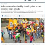Toronto Star Amends Headline to Acknowledge that Two Palestinians Were Killed After Stabbing Israelis