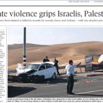 Shocking: Globe and Mail Claims Israeli Civilians Committed Terror on Palestinians Using Cars, Scissors, & Knives