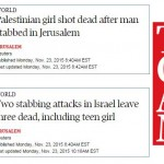 Globe and Mail Headline Equates Palestinian Terrorists with Israeli Victim