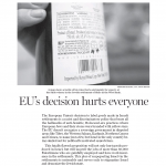 "HRC in National Post Today: ""The EU's decision to label Israeli products hurts everyone"""