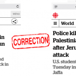 Success! HRC Prompts CBC Correction of Headline that Concealed Palestinian Terror
