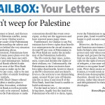 "HRC in Prince George Citizen: ""Don't Weep for Palestine"""