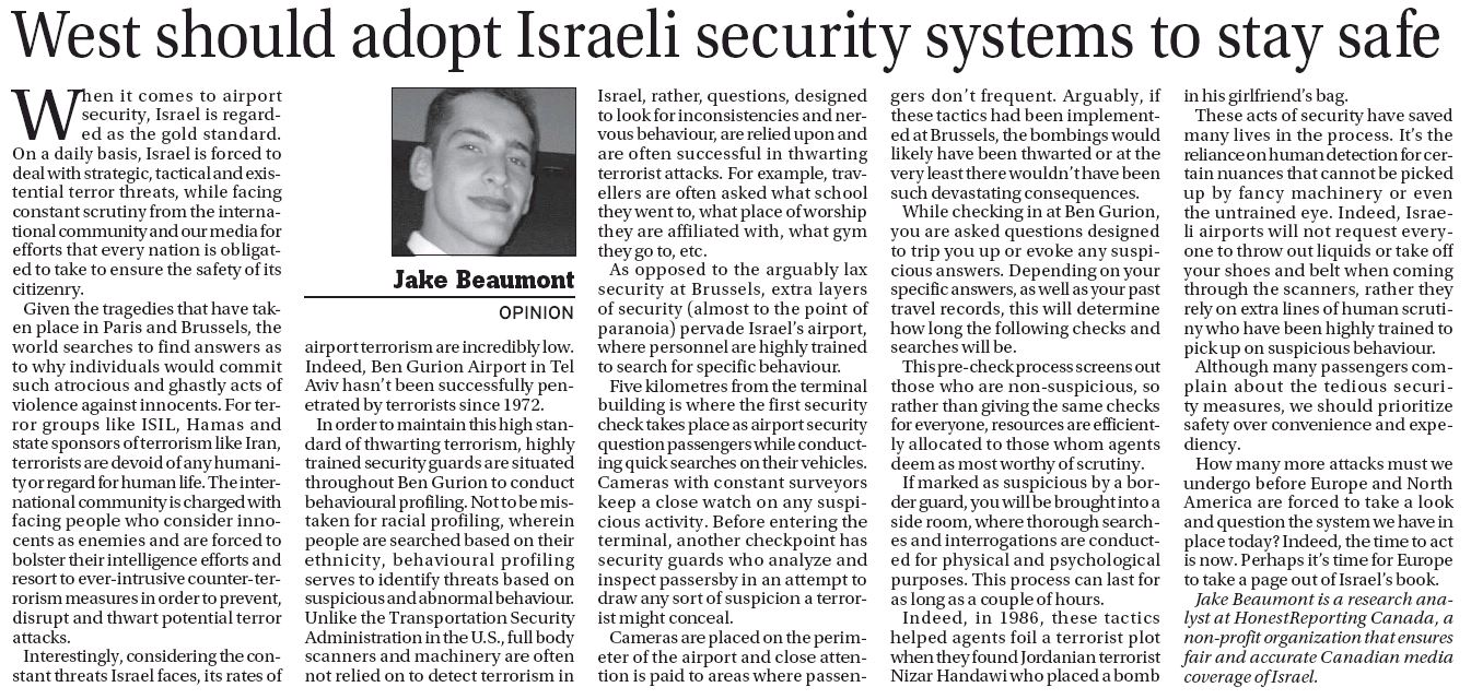 Hrc in the vancouver province west should adopt israeli Should i get a security system