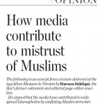 Toronto Star Accuses Canadian News Media of Contributing to Islamophobia