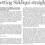 Star's Haroon Siddiqui Taken to Task by Post Letter Writers