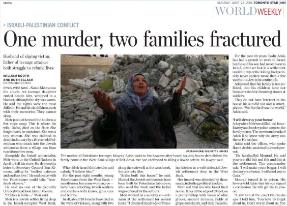 Toronto Star Demonizes Israel with False Moral Equivalence