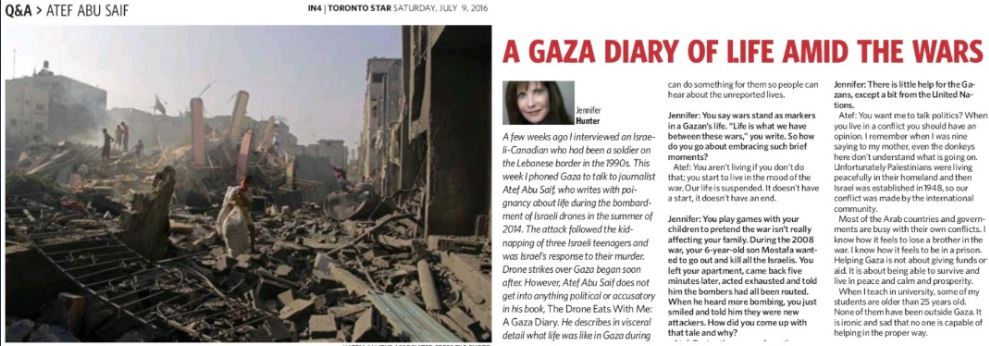 Toronto Star Interview About Gaza War Replete with Errors and Unfairness