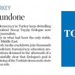 "Toronto Star Ignores Israel Claiming Turkey Was ""Only Stable, Responsible Democracy in Mideast"""