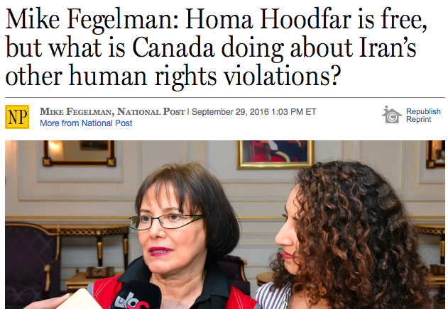 National Post Publishes HRC Op-Ed: Canada Must Articulate Case for Renewing Diplomatic Relations with Iran