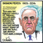 Toronto Sun Cartoon on the Life and Legacy of Shimon Peres