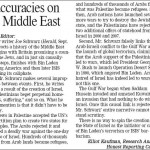 HRC Counters Inaccuracies on the Middle East in Penticton Herald
