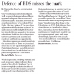 Toronto Star Letter Writers Condemn BDS