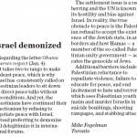 Palestinian Demonization of Israel Obstructs Peace, Says HRC in London Free Press