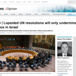 HRC on CBC News: Lopsided UN Resolutions Will Only Undermine Efforts For Peace in Israel