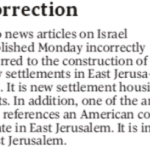 """UPDATED: HRC Prompts Globe Correction (Again!) Israel Isn't Building """"New Settlements"""""""
