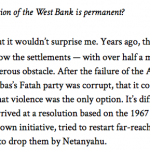 """Globe Contributor Michael Bell Says Israeli Settlements are a """"Cancerous Obstacle"""""""