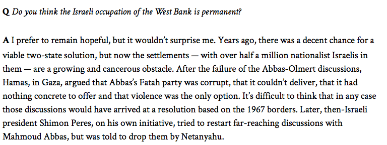 "Globe Contributor Michael Bell Says Israeli Settlements are a ""Cancerous Obstacle"""
