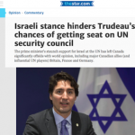 Israel Shouldn't be a Sacrificial Lamb for Canada to Secure a Seat at the Security Council