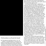 "HRC in Winnipeg Free Press: ""Balfour Declaration was Basis for Israel"""