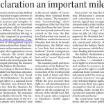 HRC in the Telegram: Balfour Declaration a Historic Milestone